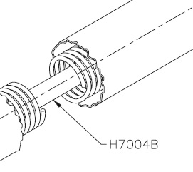 Pioneer H7004B Roller Shaft for Spring Loaded Roller